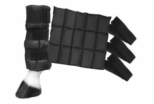 """NEW Showman Cold Therapy Ice Boots  Measures 14"""" x 13"""" FREE SHIPPING"""