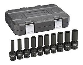 "Gearwrench 10pc 1//2/"" drive Deep Universal Flex Impact Socket Set 10-19mm #84945N"