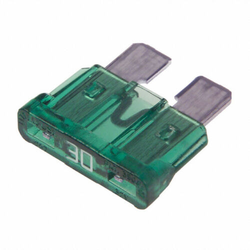 Pack of 5 30A 30 Amp Green Blade Fuses UK Stock