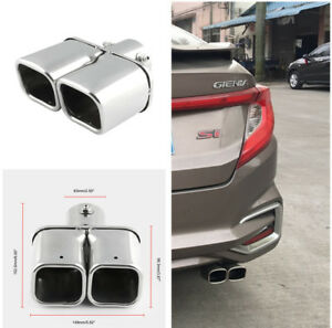 1pcs-2-4-034-Stainless-Steel-Dual-Straight-Pipe-Exhaust-Pipe-Muffler-Modification