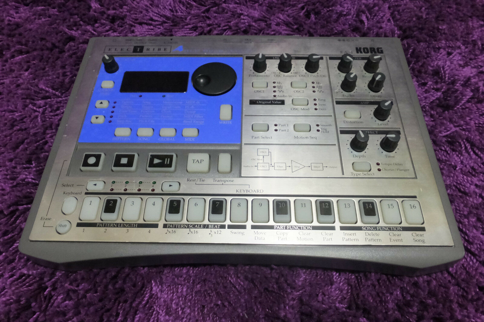 USED Korg Electribe EA-1 Analog Modeling Synth EA1 170215