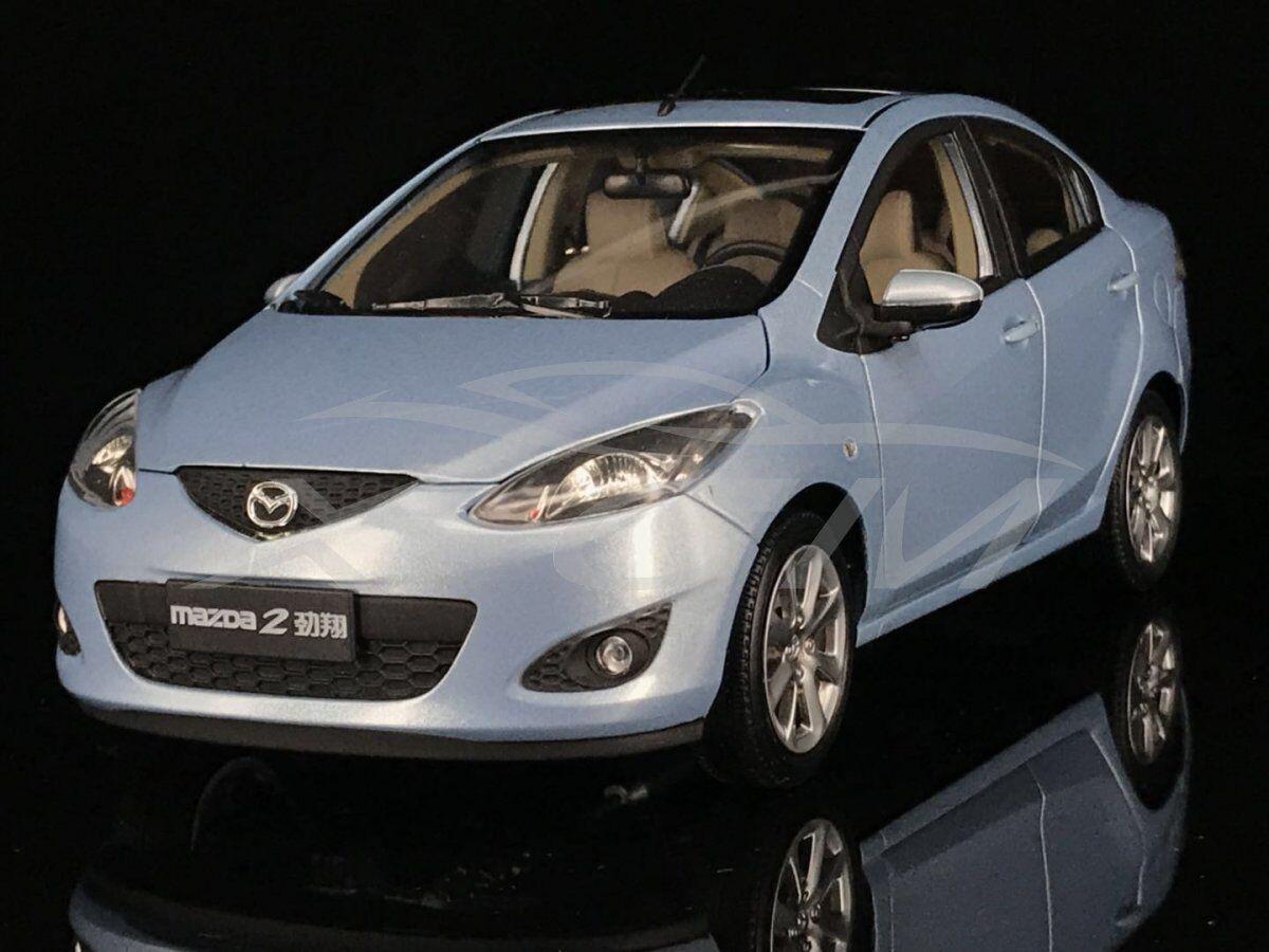 Diecast Car Model Mazda 2 Jin Xiang Sedan 1 18 (bluee) + GIFT