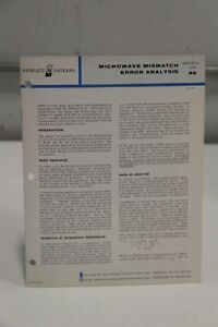 HP-Agilent-Microwave-Mismatch-Error-Analysis-Application-Note-56