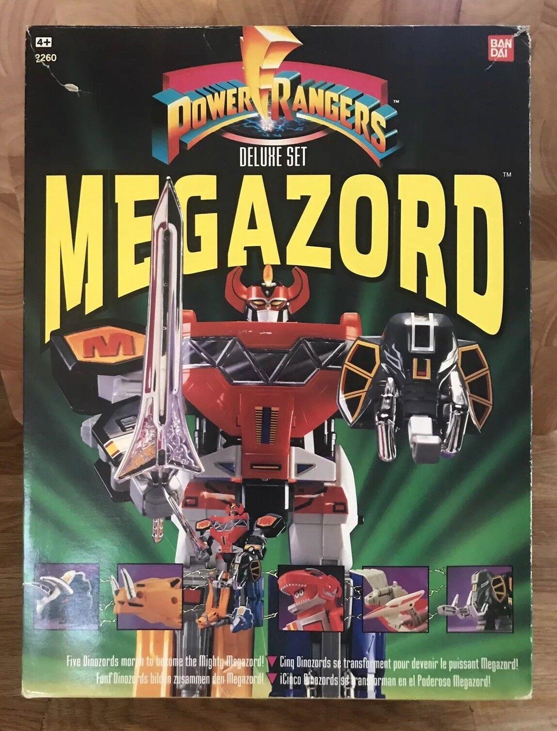 POWER RANGERS Vintage Megazord Dinozords Deluxe Set Complete Boxed Bandai 1993