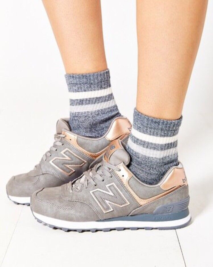 Damens's New Balance Bronze 574 ROSE GOLD Grau Bronze Balance Copper 6.5 Sneakers Schuhes WL574PBG 96e919