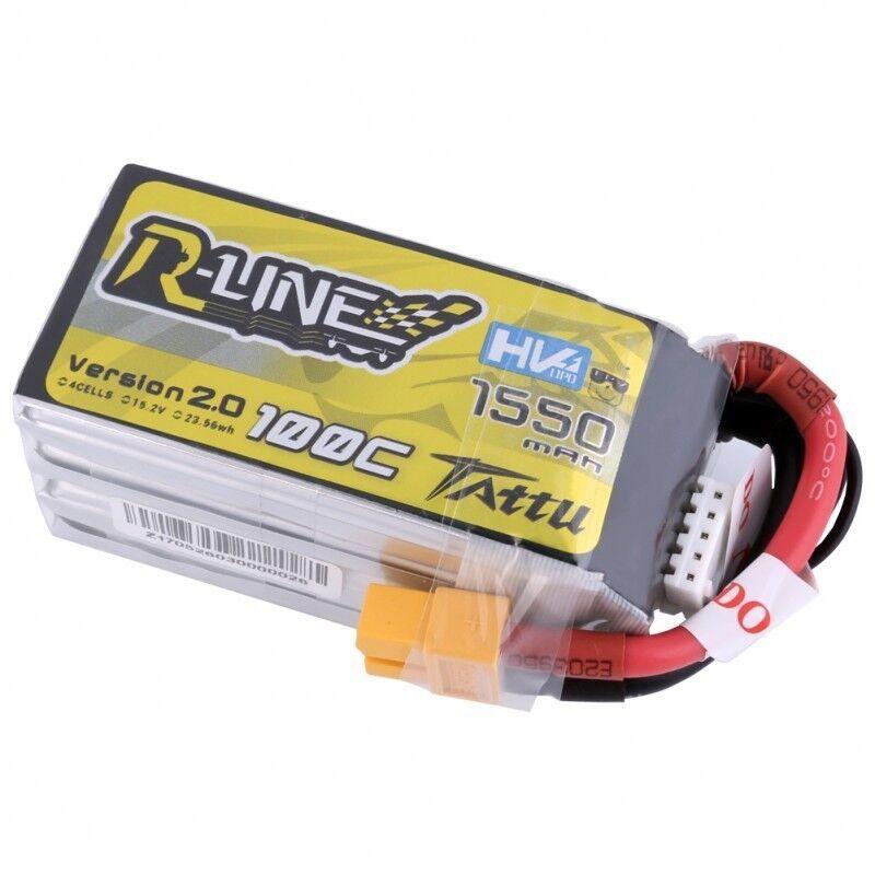 Tattu R-line RC Batería Pack 1550mAh 4S 15.2V HV 100C Lipo Para Racing FPV Drone
