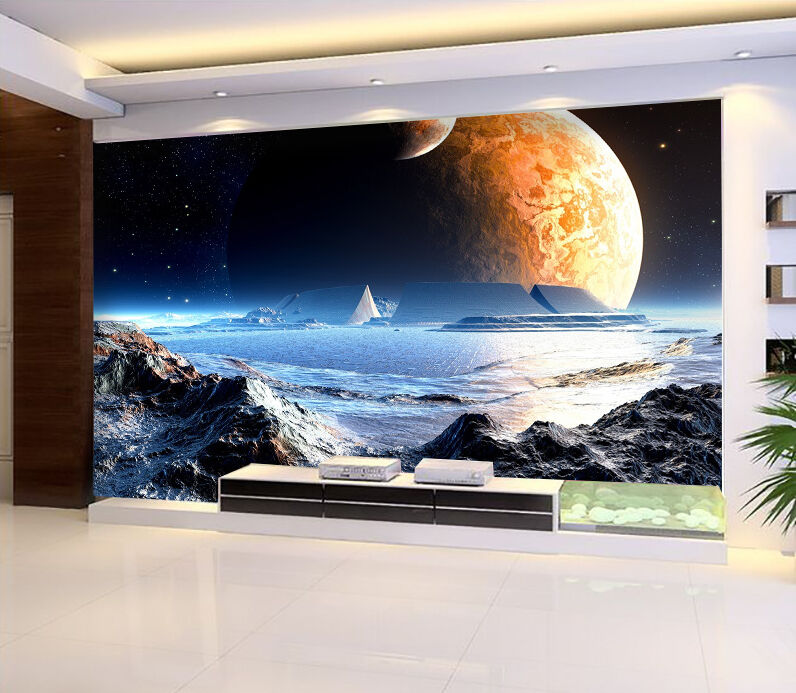 3D Outer Space Planet 1693 Paper Wall Print Wall Decal Wall Deco Indoor Murals