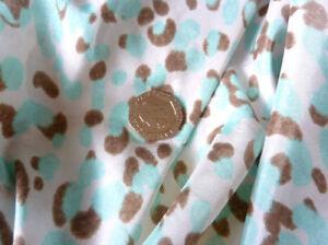 Bleu & Imprimé Animal Marron Poids Léger Robe Jupe Top Tissu Poupées Vêtements-afficher Le Titre D'origine