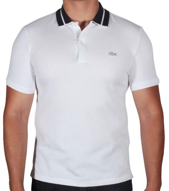 36ce232879 Lacoste Men's Heavy Pique Polo Shirt Short Sleeve Slim Fit PH7120-51 DU9  White