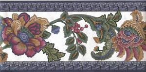 Wallpaper-Border-Bright-Jewel-Tone-Classic-Jacobean-Floral-Blue-Green-Burgundy