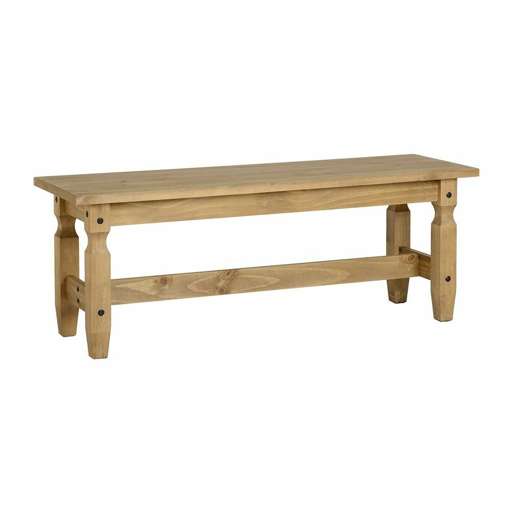 Surprising Details About Corona 4 Dining Bench In Distressed Waxed Pine Wooden Dining Table Chair Home Andrewgaddart Wooden Chair Designs For Living Room Andrewgaddartcom