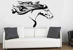 Image is loading Racing-Horse-Silhouette-Wall-Art-Sticker-Horsebox-Box- & Racing Horse Silhouette Wall Art Sticker Horsebox Box Pony Transfer ...