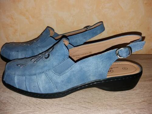 Vmathilda Mac En Gr cuir confortable Slingbacks bleu simili denim 41 Super et Nouveau Hfqw1df