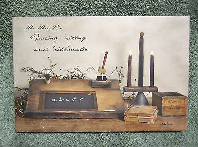 A Simple Life Canvas Sign Picture Country Billy Jacobs Candles Primitive Small