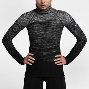half off 72f3d 9200e Details about Nike Pro HyperWarm Womens Long-Sleeve Thumbholes Training  Top (Compressive Fit)