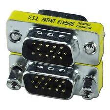 Lot10 SVGA//VGA HPDB15//HD15 pin Female~DB9 Male Video//Monitor Cable Adapter$SHdis