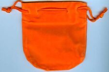 "RPG SMALL ORANGE DICE POUCH 4"" X 4"" INCH SIZE D&D ROLE PLAYING NEW"