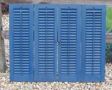 "Vintage Interior Wood Shutters Louvers Total Width 35"" x 29"" Tall"