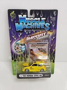 Muscle-Machines-Import-Tuner-039-00-Honda-Civic-HB-Yellow-1-64