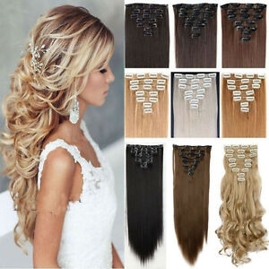 100 real thick hair extensions clip in on hair extension full image is loading 100 real thick hair extensions clip in on pmusecretfo Images