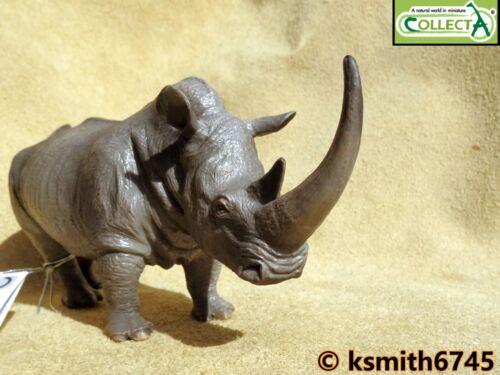 Nuevo Collecta rinocerontes blanco de plástico sólido Juguete Animal Salvaje Zoológico Rhino
