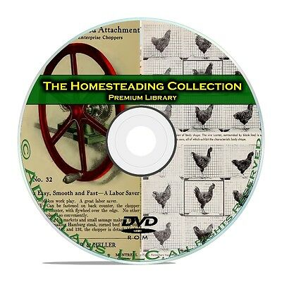 900+ Books Homesteading Collection, Survival, Farming, Raising Chickens DVD B66