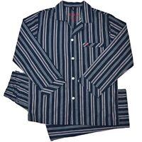 Mens Sleepwear Pajamas Long Sleeve Top & Pants Pj 2pc Set Size S-2xl Rrp $49.95