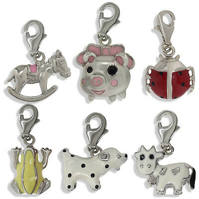 925 STERLING SILVER CHARM BRACELET PENDANT YELLOW FROG DROP LEVER CHARM GIFT BOX