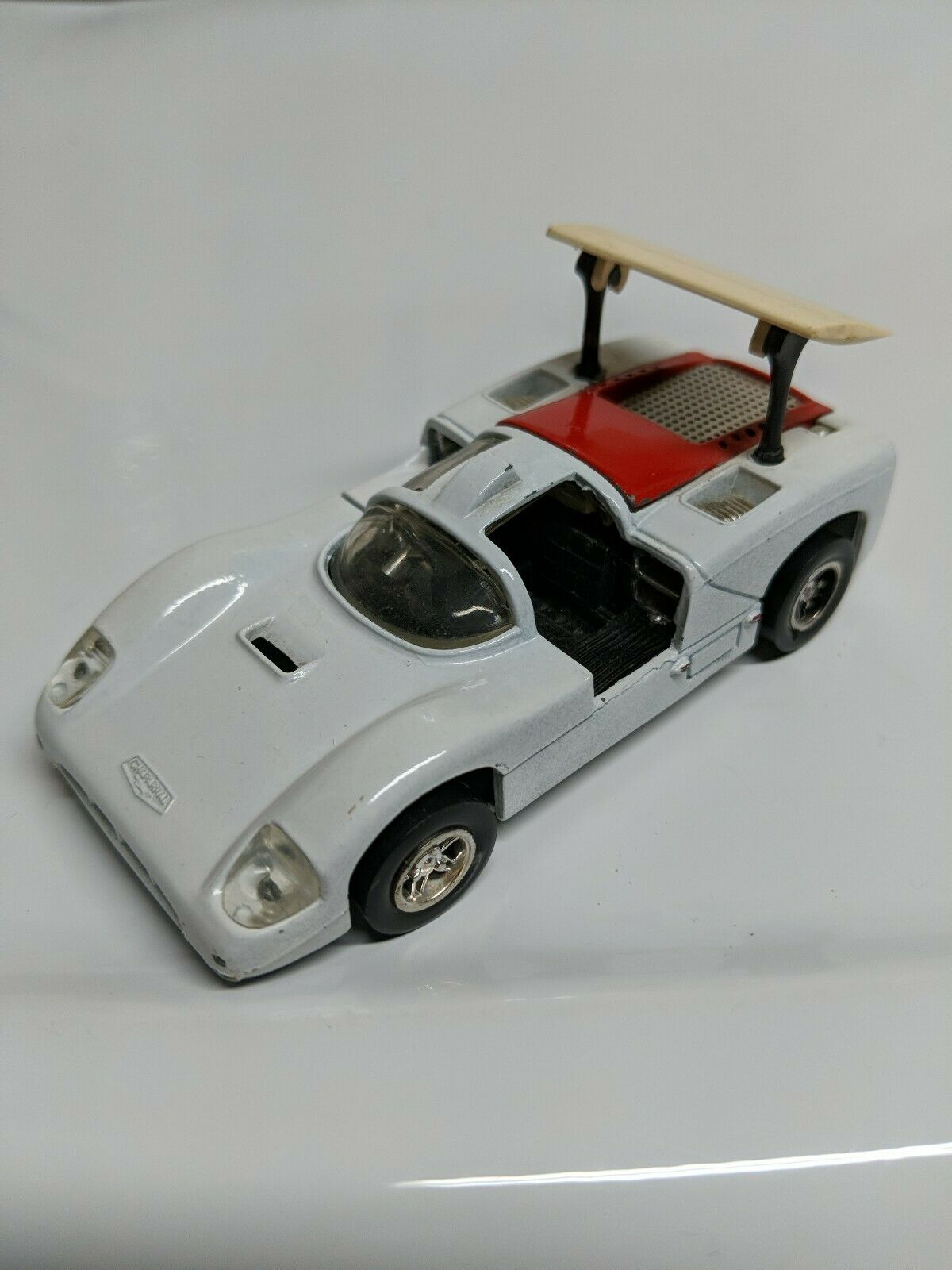 Hot Wheels Chaparral Sputafuoco Heisse Rader Mebetoys 6606 White Made
