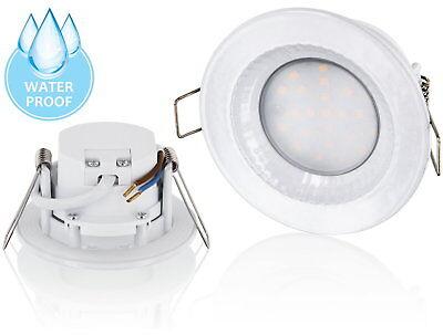 Aussen Einbauleuchte LED 5W Spot Einbaustrahler 230V IP54 Druckguss warmweiß