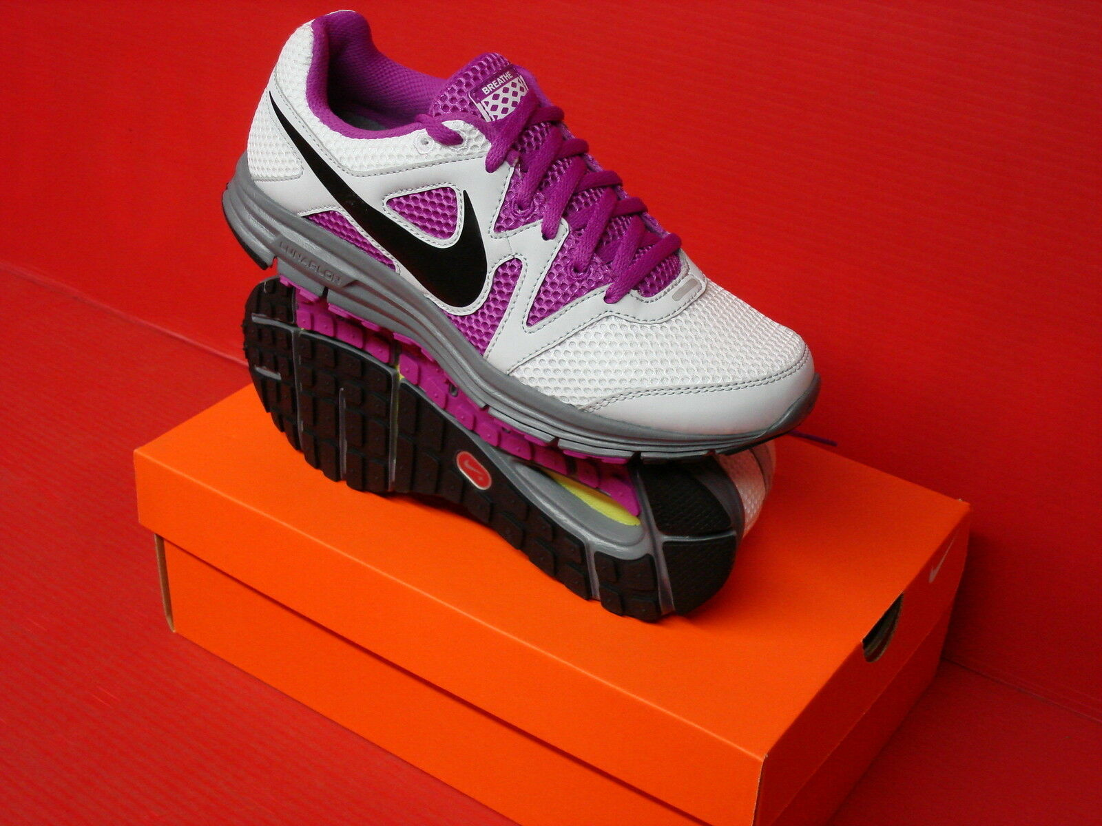 NIKE WMNS LUNARFLY +3 BREATHE WOMENS RUNNING 510791 Stealth/Wht-Cl Grey-Prsm Bl - ...,Wht/Blk-Magenta-Cool Grey - 16...