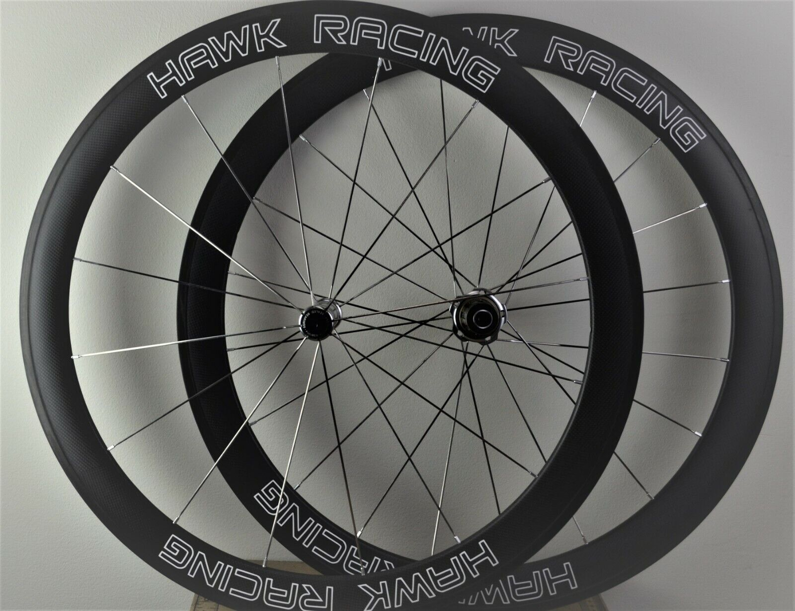 Hawk Racing Carbon Fiber Wheel Set,  Stratus 50mm, 700C Tubular, 10 11sp  hastened to see