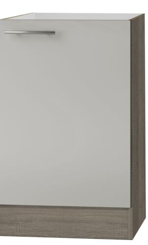 KULT Arta Spülenschrank 50cm Breit Sahara beige glänzend SPLO506