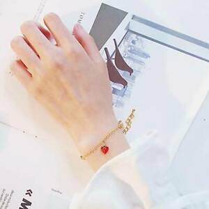 Enamel-Strawberry-Fruits-Pendant-Bracelet-Women-Charm-Bracelet-Chain-Jewelry-8C