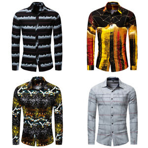 New-Men-Hawaiian-Shirt-Long-Sleeve-Casual-Cotton-Tops-Full-Printing-Dress-Shirts