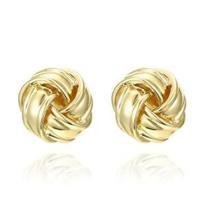14k-Yellow-Gold-Plated-Knot-Post-Earrings-TL942