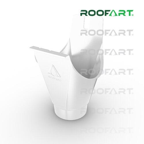 Roofart Rinneneinhangstutzen Einlaufkessel farbig 7tlg 280 für 87 mm Rohr