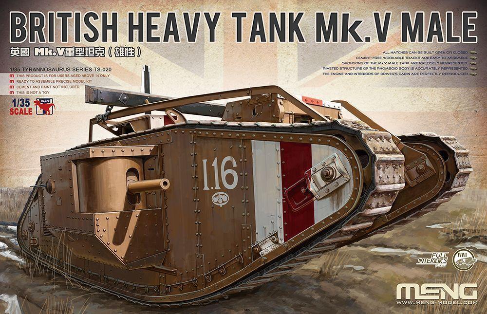 Meng Model 1 35 TS-020 British Heavy Tank Mk.V Male