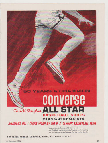 1964 MAGAZINE AD #00629 CONVERSE SHOES CHUCK TAYLOR ALL STAR