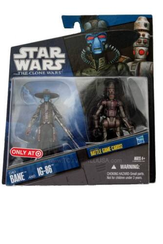 STAR WARS THE CLONE WARS CAD BANE et IG-86 Target Exclusive