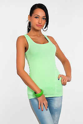 Sexy Women's Vest Top Classic Cotton Plain T-Shirt Sleeveless Size 8-12 FT318