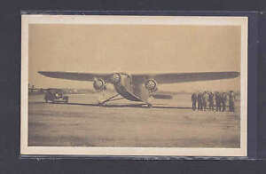 Ca 1935 FORD TRI MOTOR AIRPLANE W/DATA ON BACK MINT PICTURE POSTCARD