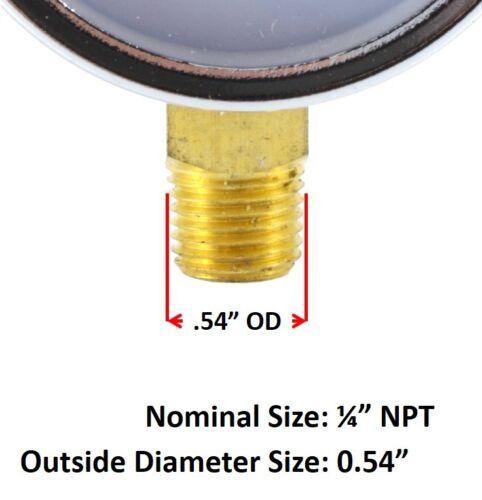 2 inches High Pressure Gauge for Oxygen Regulator 0-4000 psi