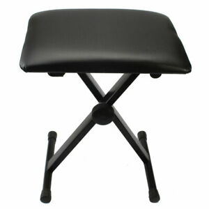 Adjustable-Piano-Bench-Stool-Folding-Seat-Black