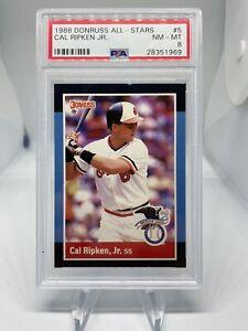 1988 Donruss All Star Cal Ripken Jr #5 PSA 8 Hall Of Fame HOF Baltimore Orioles
