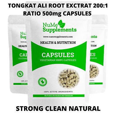 Tongkat Ali Extract Capsules 200:1 Ratio Thailand Ginseng Testosterone Libido eBay