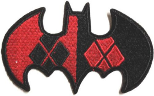 Batman Harley Quinn Red /& Black Badge Embroidered Patch Sew//Iron on 10cm