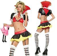 Delux Sexy Queen of Hearts Costume, Leg Avenue, Alice In Wonderland, 8-14
