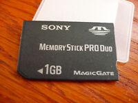 Pro Duo 1gb Memory Stick Pro Duo For Sony Dsc-t1 T2 T10 T100 T20 T77