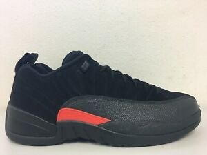 new product 9b4c3 910de Details about Nike Air Jordan 12 Retro Low Black Orange 308317 003 Mens  Size 10